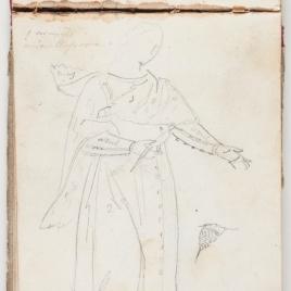 Estudio de vestimenta de dama medieval
