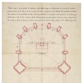 Planta del proyecto de altar y del crucero de la Catedral de Oviedo