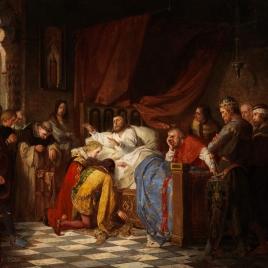 Felipe III de Francia, moribundo, bendiciendo a sus hijos
