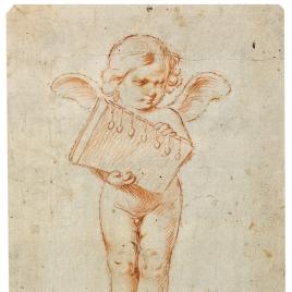 Ángel niño con el Libro de los Siete Sellos