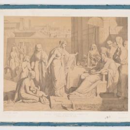 Moisés niño, presentado al Faraón
