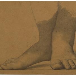Estudio de pies (Mater Salvatoris. Capilla de las Letanías de la Iglesia de Notre Dame de Lorette, París).