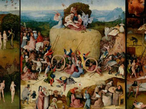 <em>Tríptico del carro de heno</em>, El Bosco, comentada por Peridis (José María Pérez González)