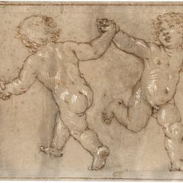Cuatro niños danzando