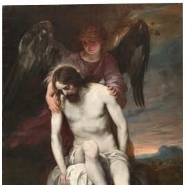 Cristo muerto sostenido por un ángel