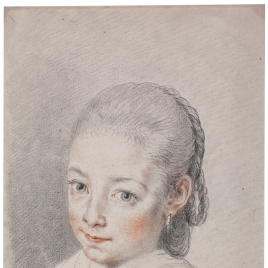 Study of a Girl's Head