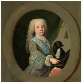 El infante-cardenal Luis de Borbón, niño