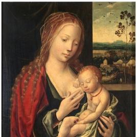 La Virgen dando el pecho al Niño Jesús