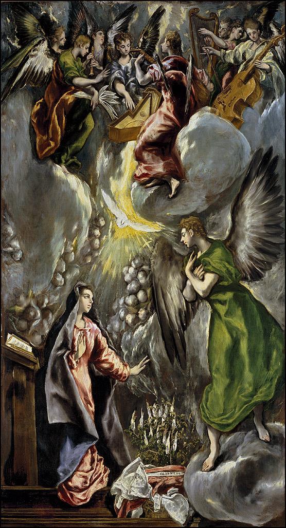 Pinturas del retablo mayor del Colegio de Doña María de Aragón [El Greco]