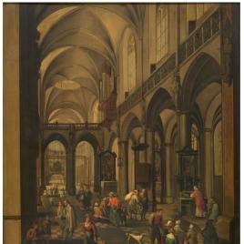 Interior de una iglesia flamenca