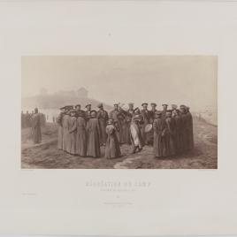 Pasatiempo en el campamento. Recuerdo de Moldavia, 1854.