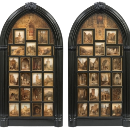 Diptych with 42 Monumental Views of Spanish Cities