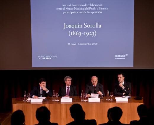 Bancaja suscribe un convenio de colaboración con el Museo del Prado para el patrocinio de la gran antológica dedicada a Sorolla que tendrá lugar en el Museo el próximo verano