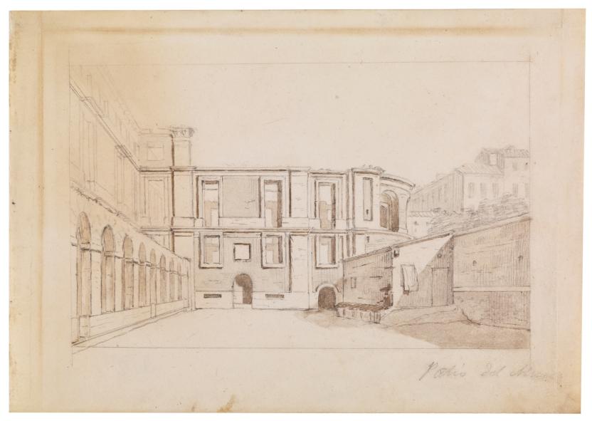 Parte posterior del Museo del Prado y vista del ábside inacabado