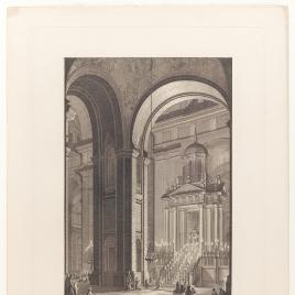 Vista del monumento de Semana Santa, Real Monasterio de San Lorenzo de El Escorial