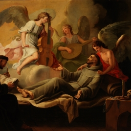 Saint Francis Comforted by Angels