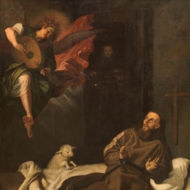 Saint Francis comforted by a Angel