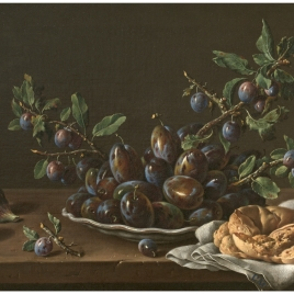 Still Life with Plums, Figs and Bread