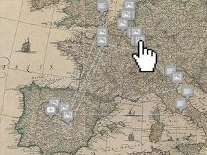 Mapa de la vida de Rubens