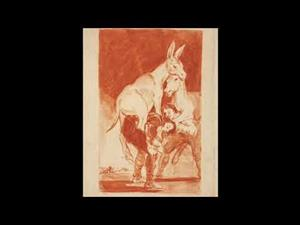 """""""Caprichos"""". Goya. Drawings. """"Only my Strength of Will Remains"""""""