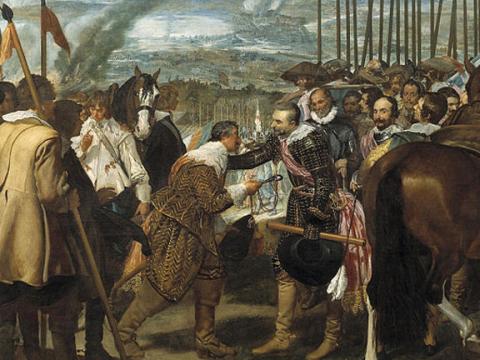 <em>Las lanzas o La rendición de Breda</em>, Diego Rodríguez de Silva y Velázquez, comentada por Justino de Azcárate