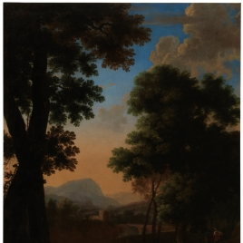 Landscape with Wayfarers, Boy and Dog