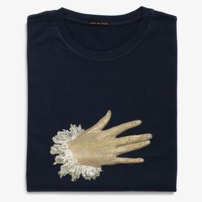 """The Nobleman with his Hand on his Chest"" T-shirt (navy blue)"