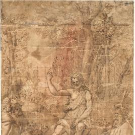 Predicación del Bautista / Niño Jesús y San Juan