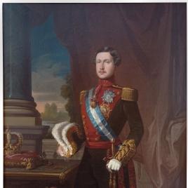 El rey Francisco de Asís, con uniforme de capitán general