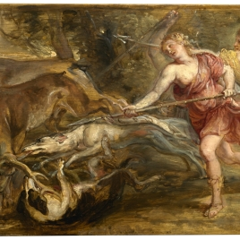 Diana and her Nymphs hunting