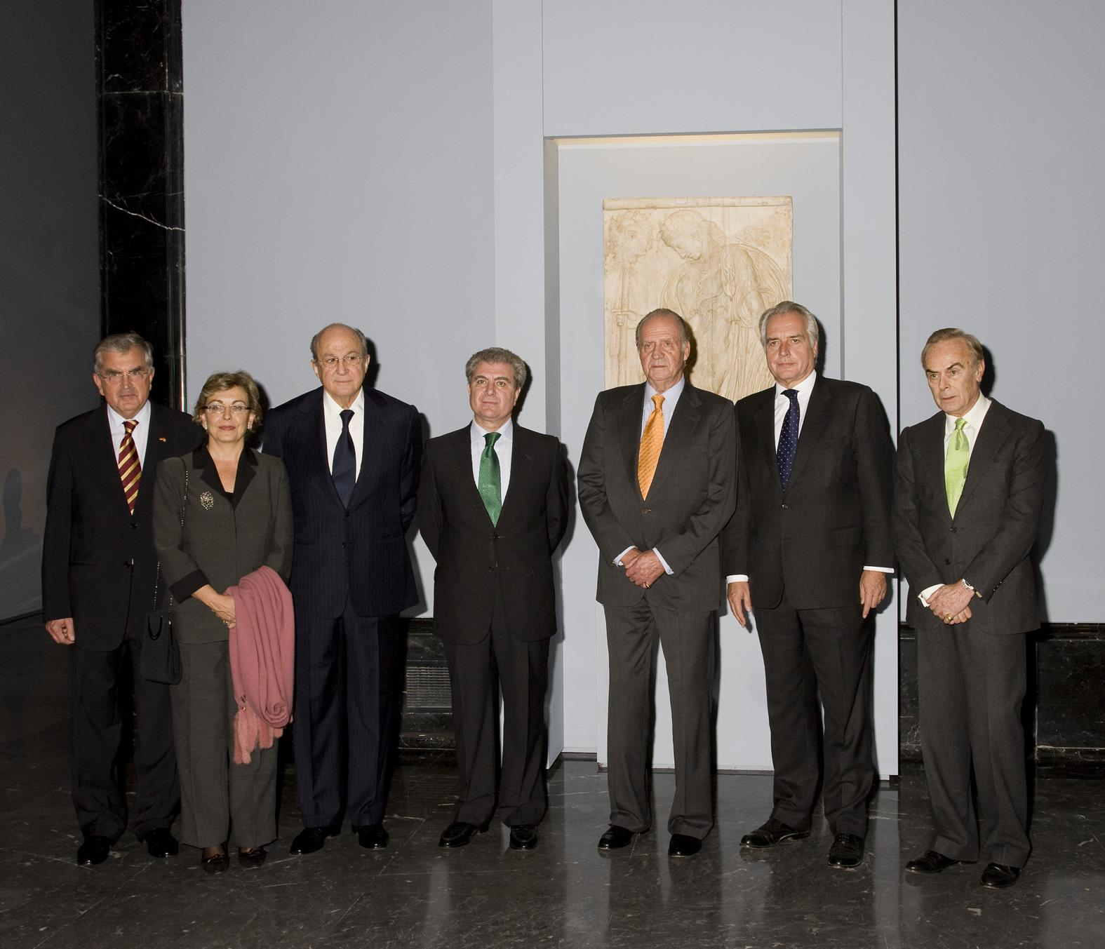 "His Majesty the King inaugurated the exhibition ""Among Gods and Men. Classical Sculptures from the Albertinum in Dresden and the Museo del Prado"""