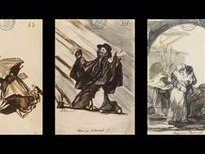 """Sketchbook C. Goya. Drawings. """"Only my Strength of Will Remains"""""""