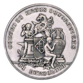 Medalla de premio del Centro de Artes Decorativas de Barcelona