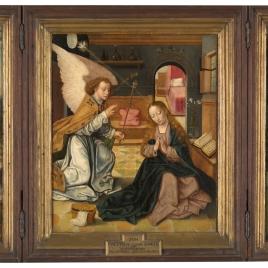 La Anunciación, San Jerónimo y San Juan Bautista