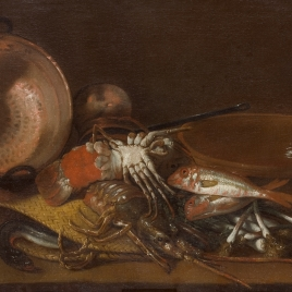 Still Life with Shellfish, Fish and Vessels