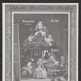 Pruebas oficiales de la serie de sellos Pintura Española
