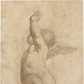 Angelito sentado sobre una nube