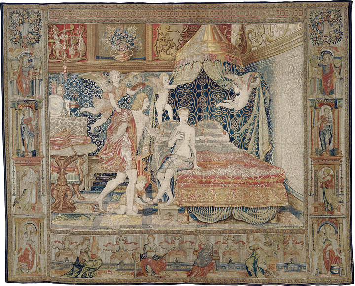 The Mercury and Herse Series. Tapestries woven with gold