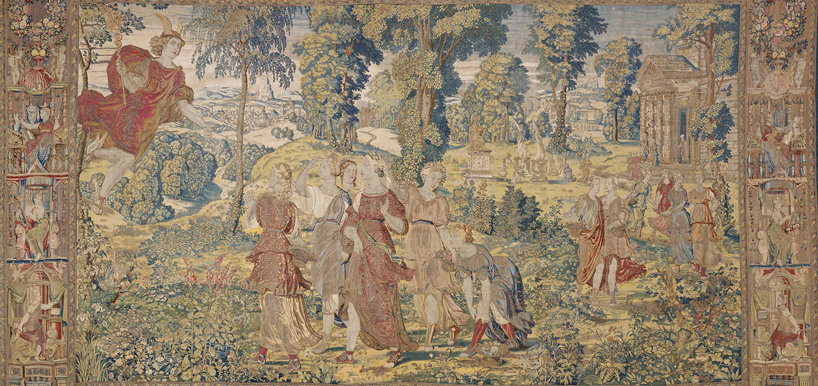 The Loves of Mercury and Herse. A Tapestry Series by Willem de Pannemaker