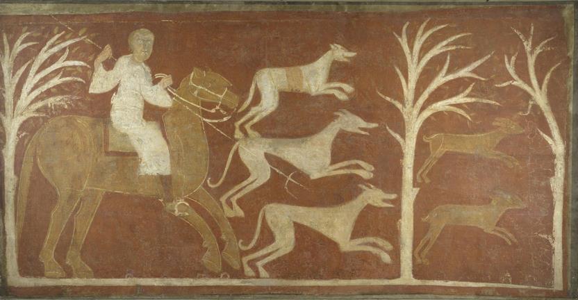 Cacería de liebres. Ermita de San Baudelio (reprodución fotográfica)