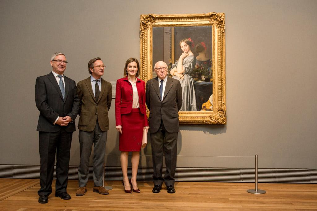 La reina Letizia inaugura la exposición Ingres en el Museo del Prado
