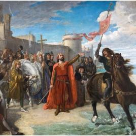 Don Alfonso el Sabio, después de haber ganado a los moros la plaza de Cádiz, primera plaza marítima que poseyeron los reyes de Castilla, tomó posesión del mar para abrir a los cristianos el camino que había de conducirles al África