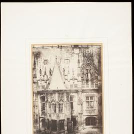 Detalle de la fachada del palacio de justicia de Rouen, siglos XV y XVI