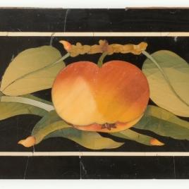 Placa con frutas, hojas y flores