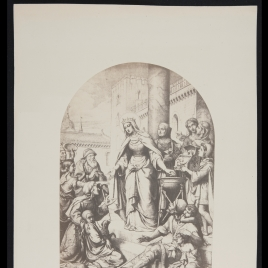 Santa Isabel de Hungría con los menesterosos