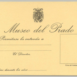 Tarjeta de visita gratuita al Museo del Prado expedidas por la Dirección [1939-1977]
