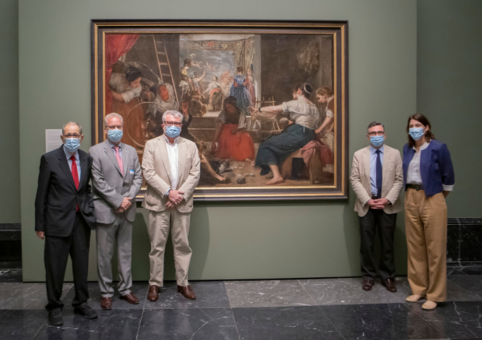 The Museo Nacional del Prado recovers Velázquez original composition for The Spinners