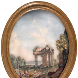 Landscape with the Ruins of a Temple