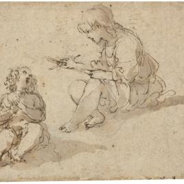 Jesús y San Juan Bautista, niños