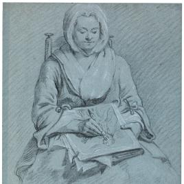 Anna María Teresa Mengs dibujando